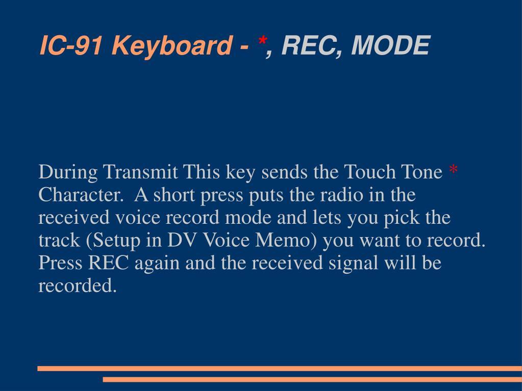 IC-91 Keyboard -