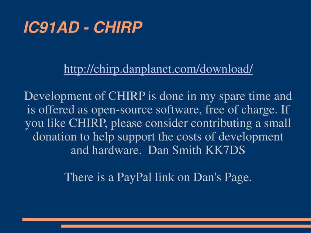 IC91AD - CHIRP