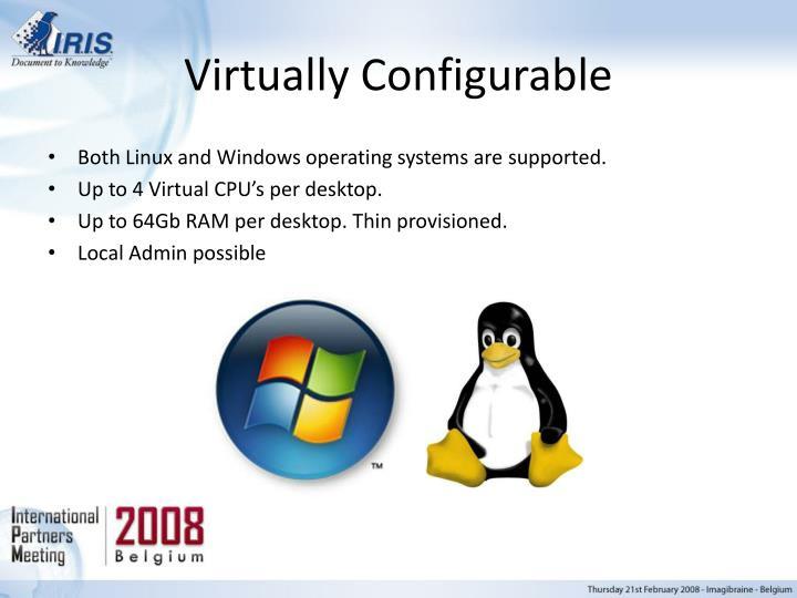Virtually Configurable