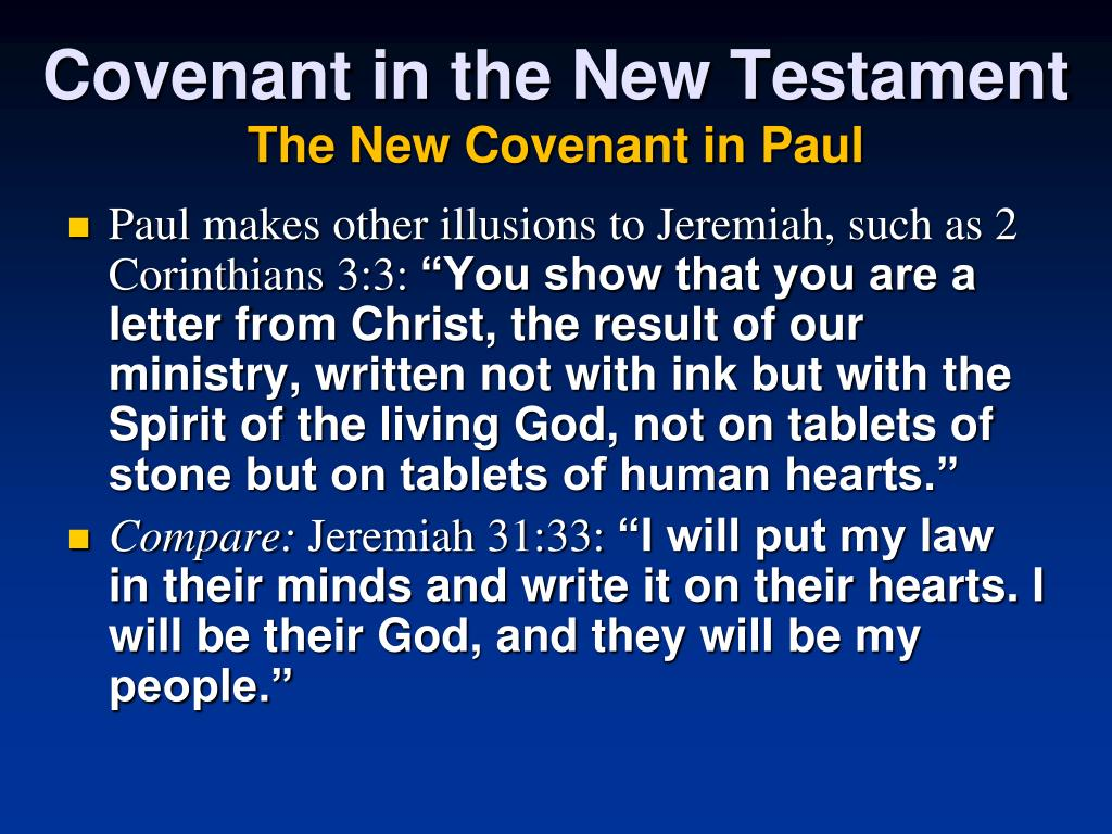 Covenant in the New Testament
