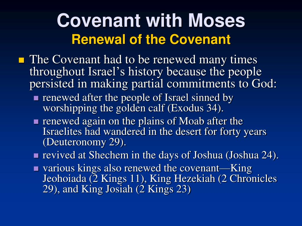 Covenant with Moses