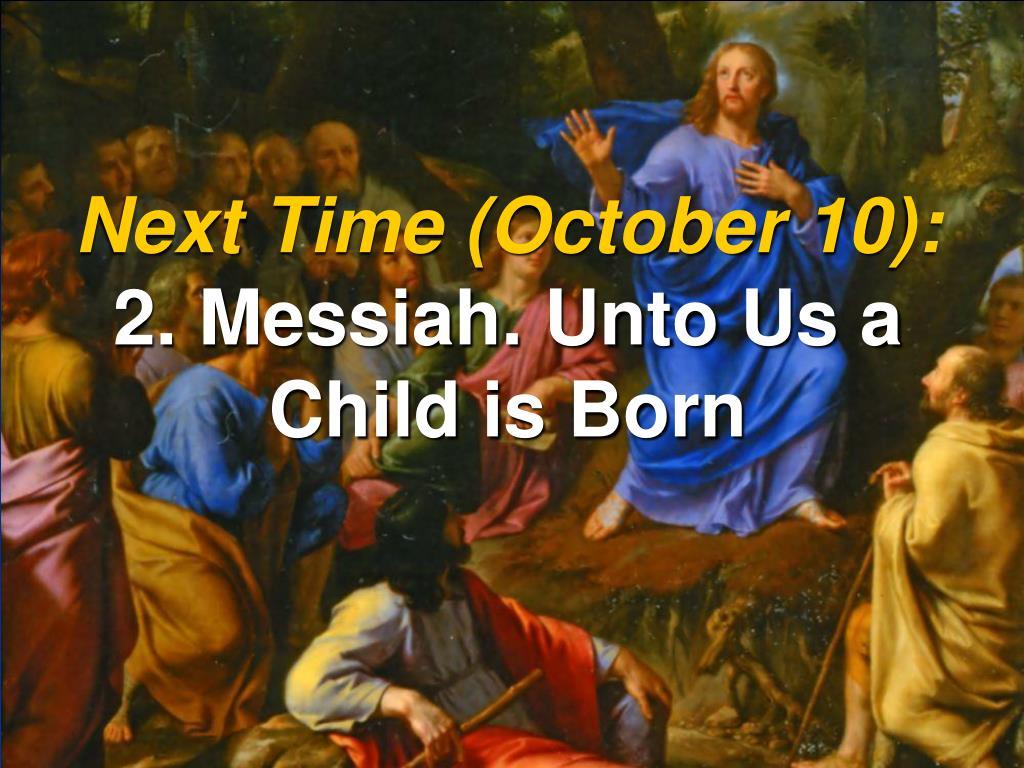 Next Time (October 10):