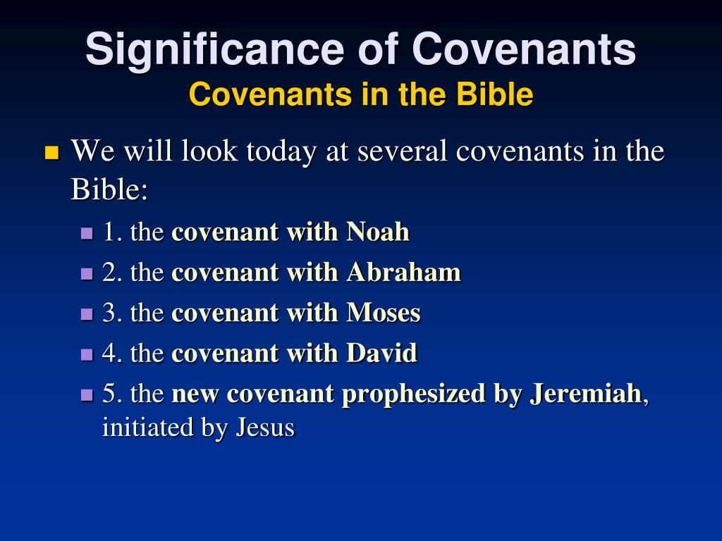 Significance of Covenants