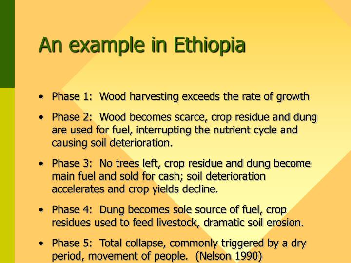 An example in Ethiopia