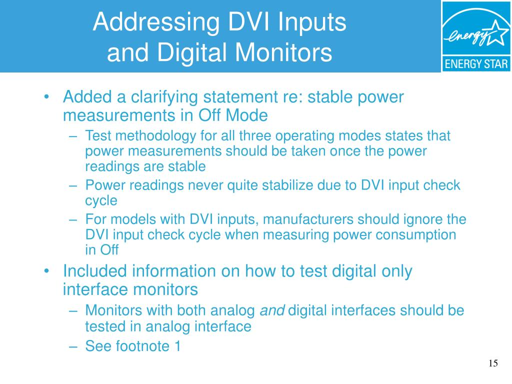 Addressing DVI Inputs