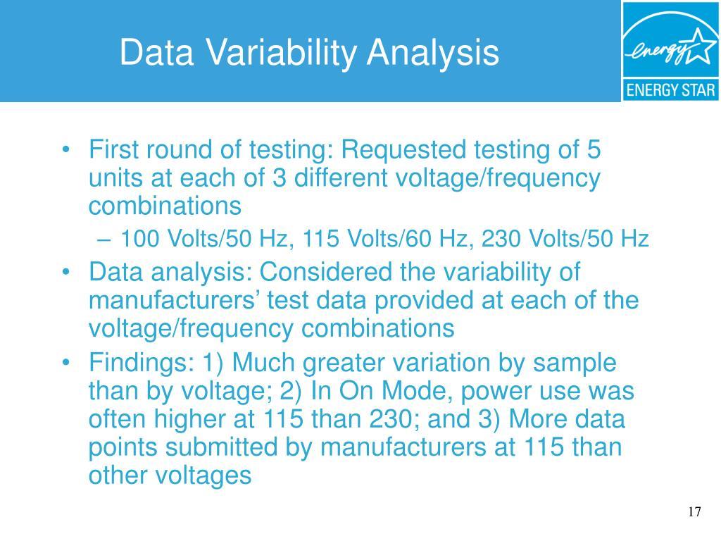 Data Variability Analysis