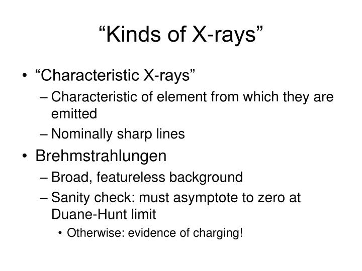 """""""Kinds of X-rays"""""""