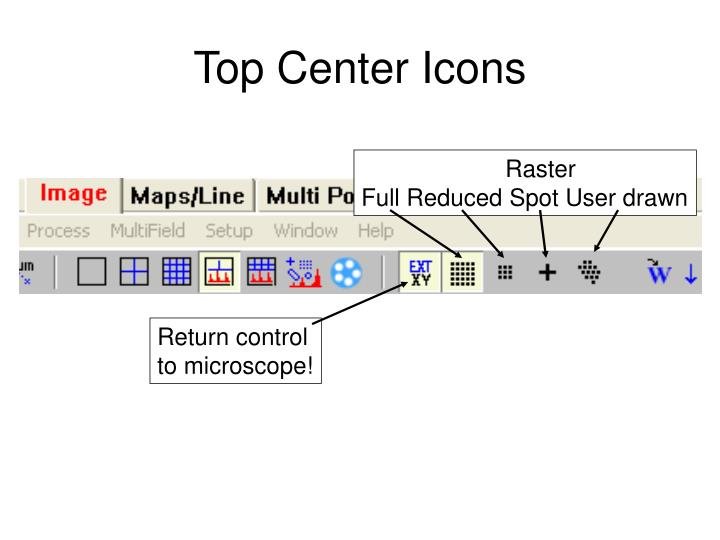 Top Center Icons