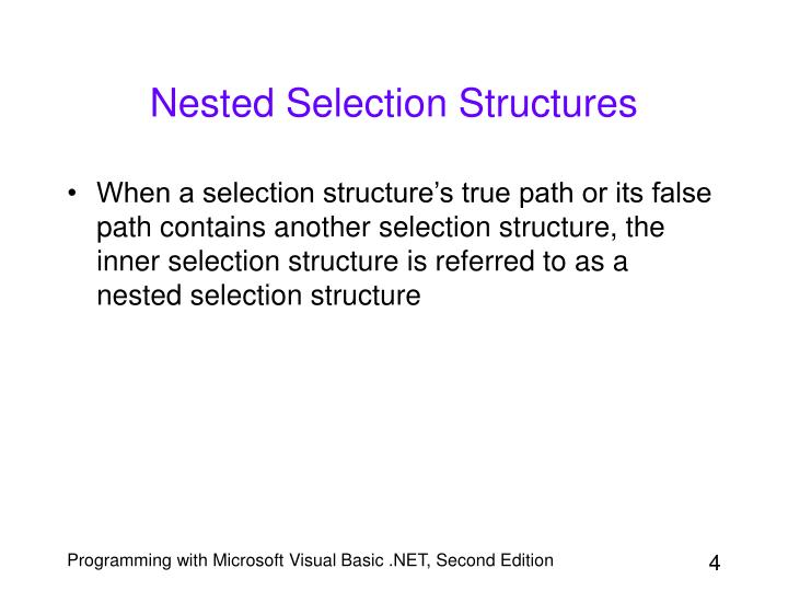 Nested Selection Structures