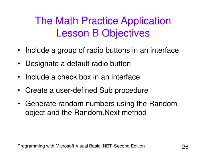 The Math Practice Application