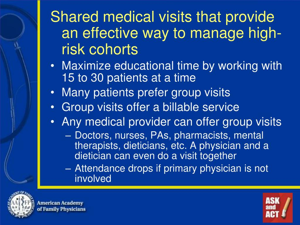 Shared medical visits that provide an effective way to manage high-risk cohorts