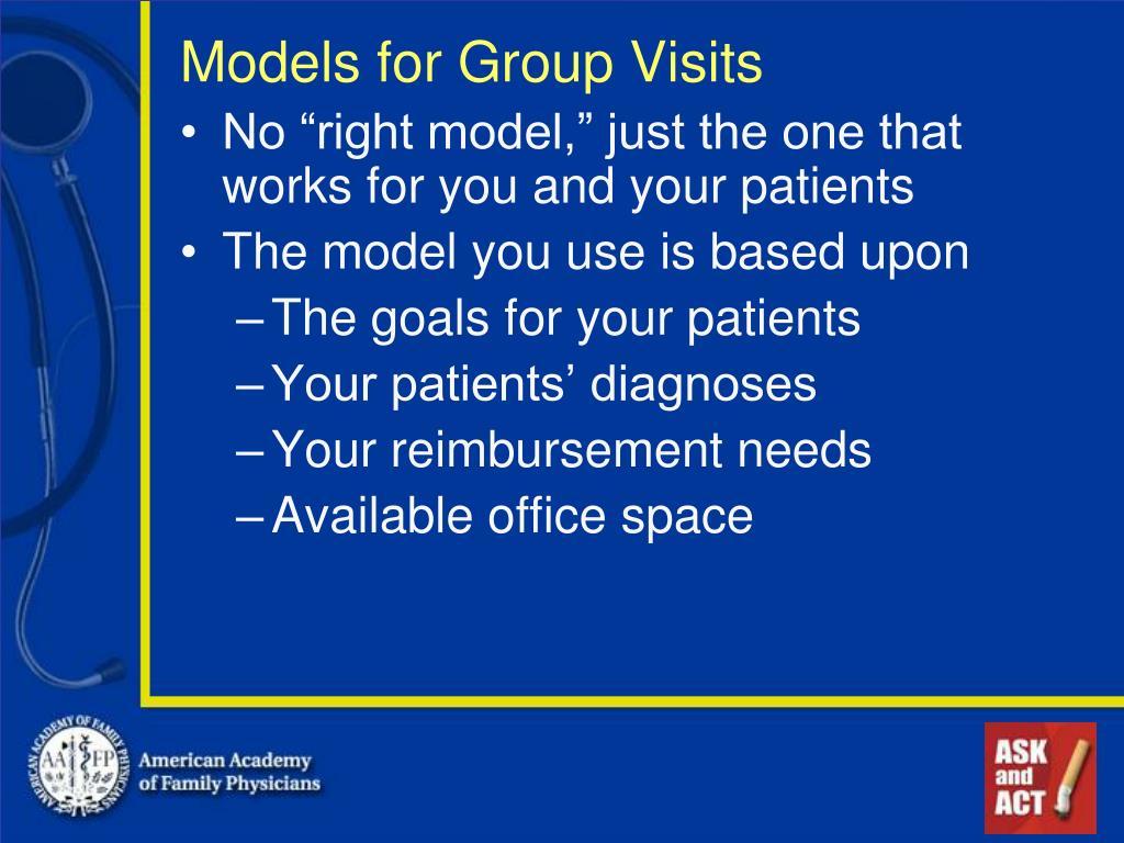 Models for Group Visits