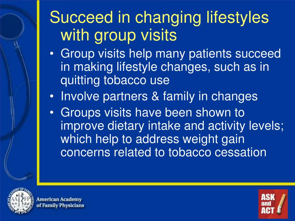 Succeed in changing lifestyles with group visits