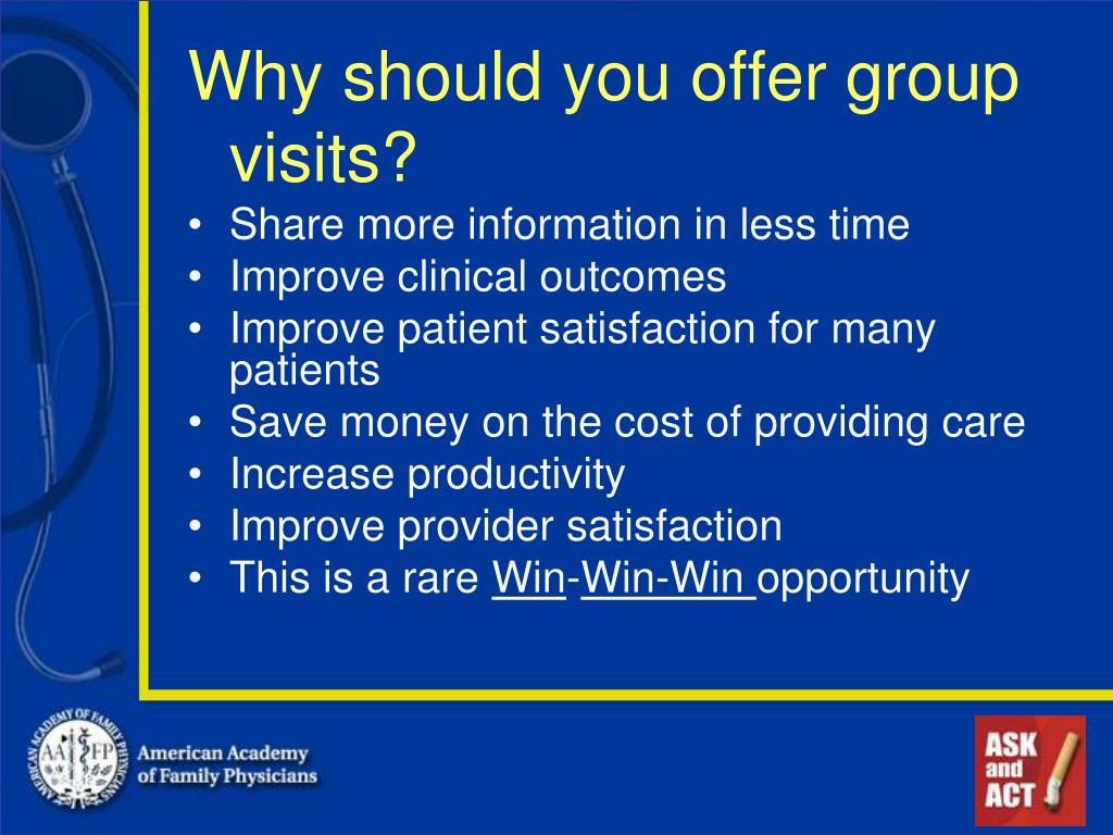 Why should you offer group visits?