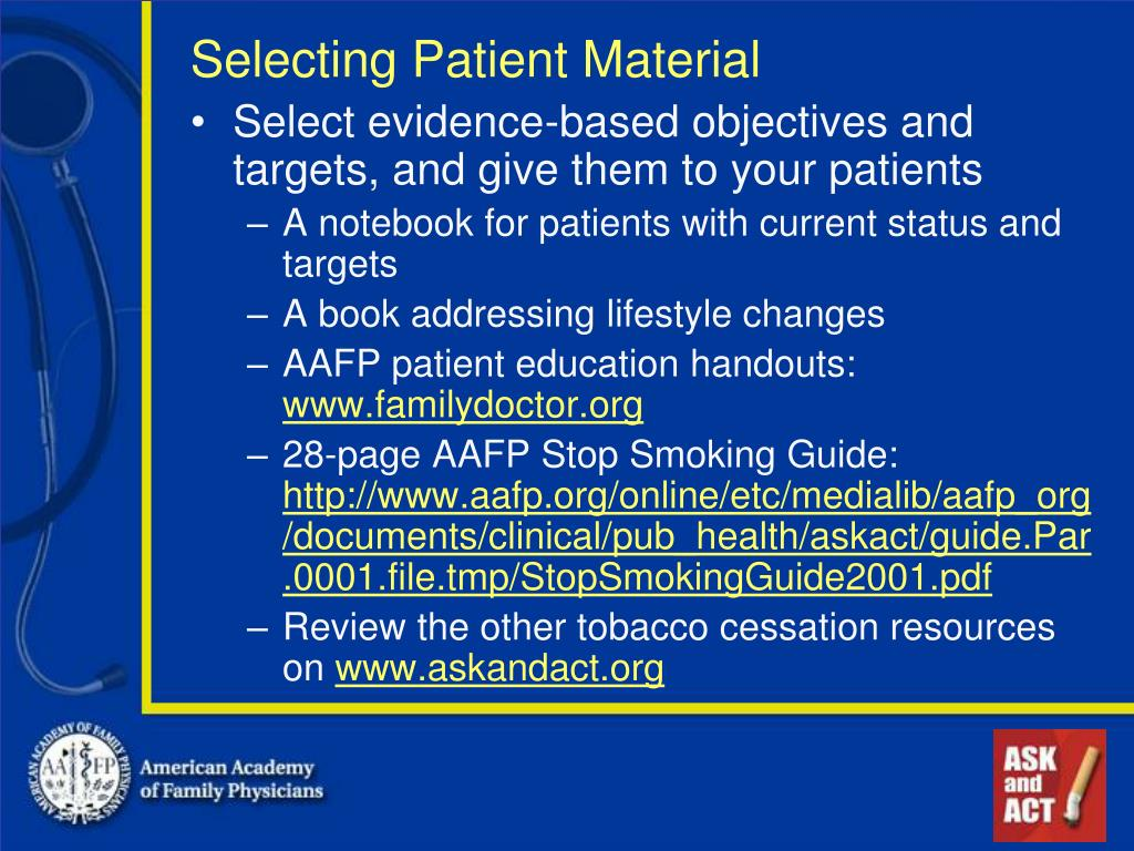 Selecting Patient Material