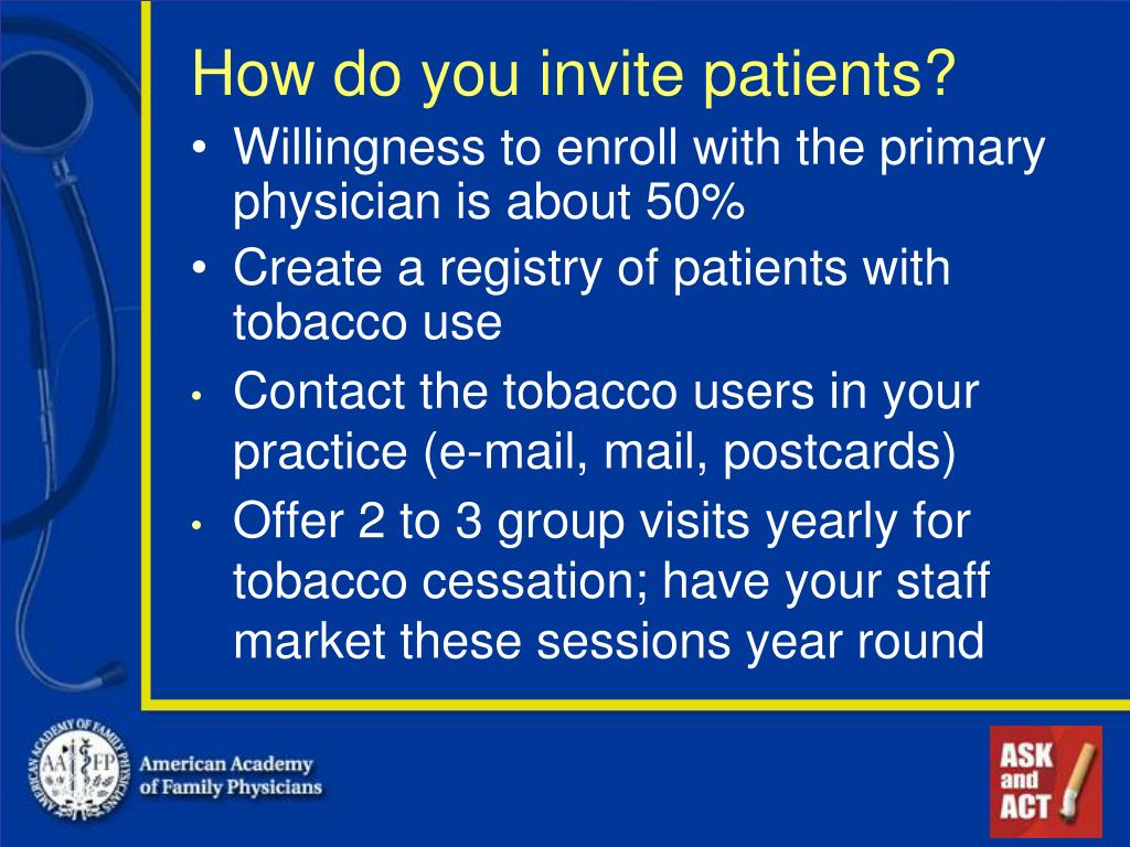 How do you invite patients?