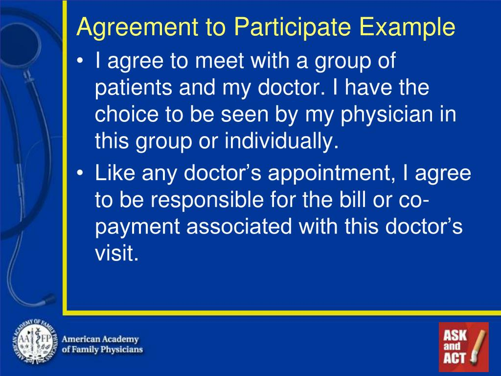 Agreement to Participate Example