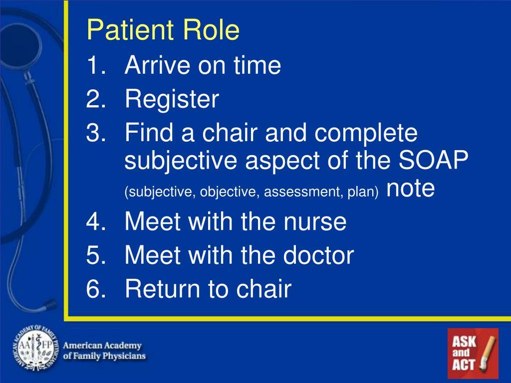 Patient Role