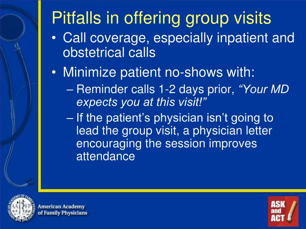 Pitfalls in offering group visits