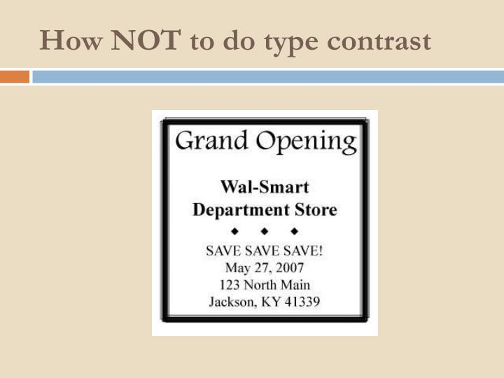 How NOT to do type contrast