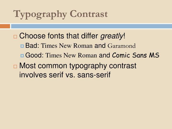 Typography Contrast