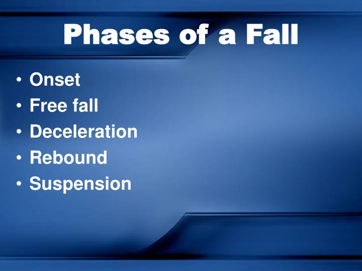 Phases of a Fall