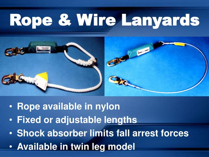 Rope & Wire Lanyards