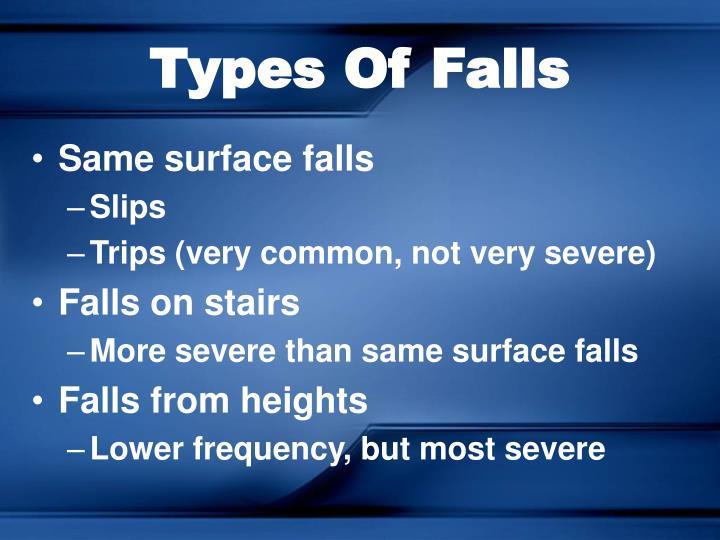 Types Of Falls