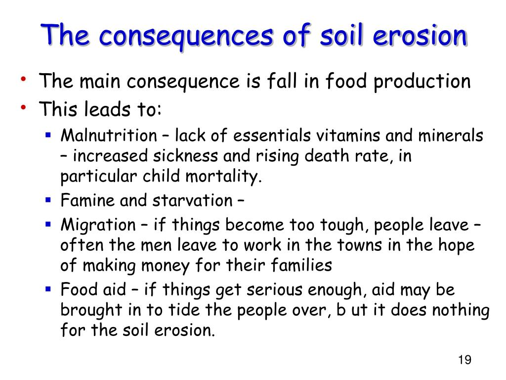 The consequences of soil erosion