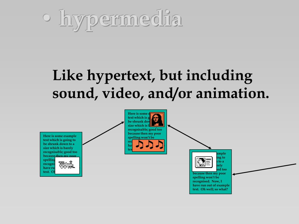 • hypermedia