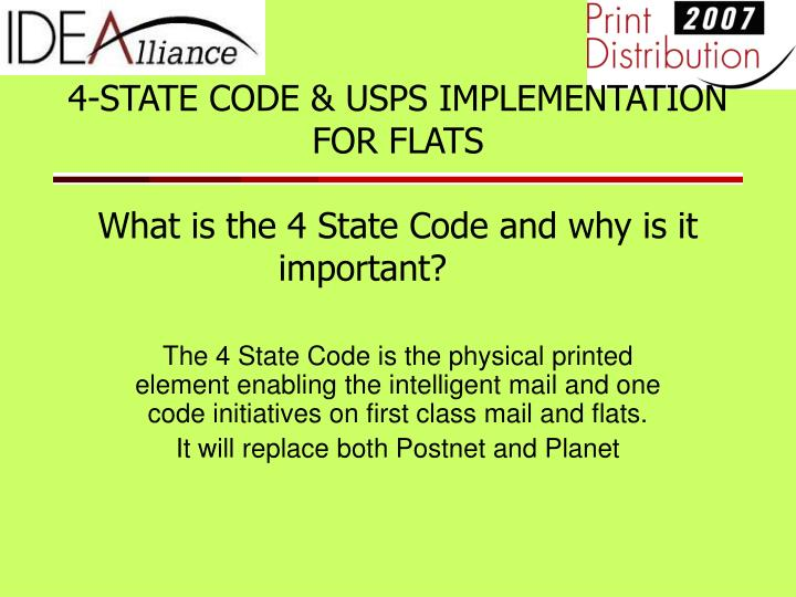4 state code usps implementation for flats what is the 4 state code and why is it important