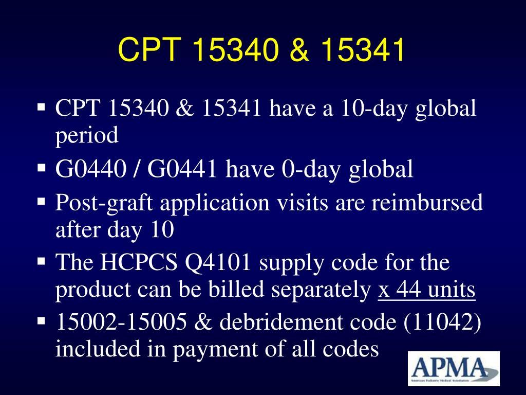 CPT 15340 & 15341