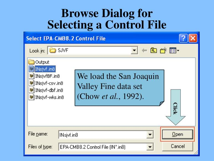 Browse Dialog for