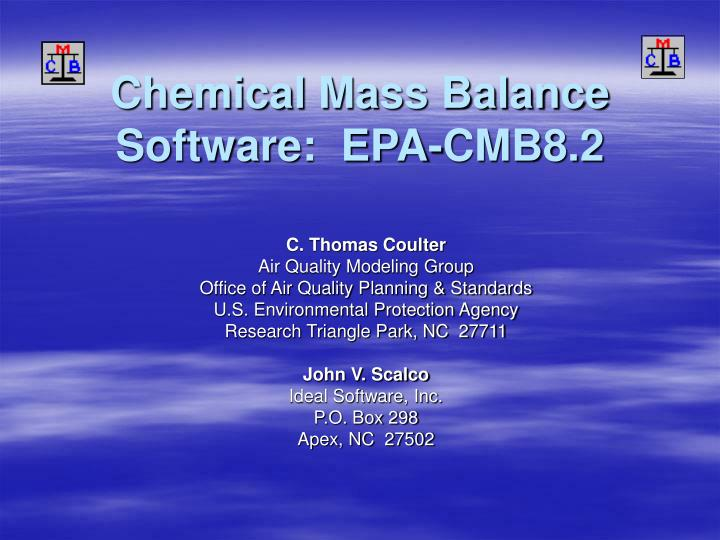 Chemical mass balance software epa cmb8 2