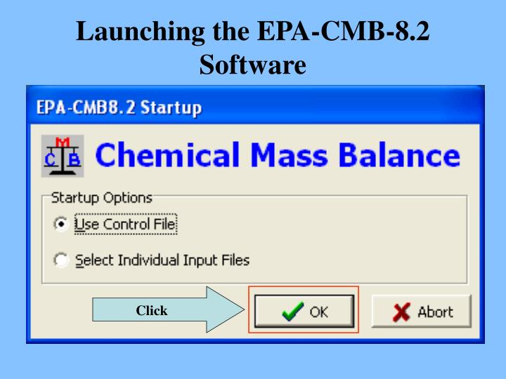 Launching the EPA-CMB-8.2 Software