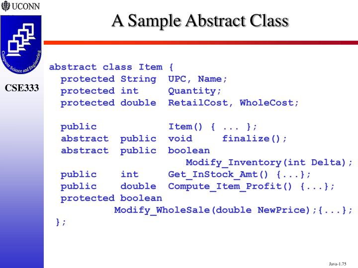 A Sample Abstract Class