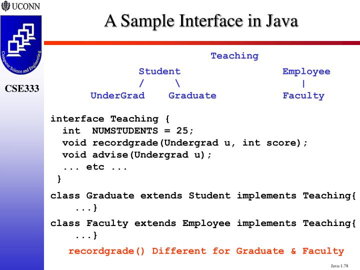 A Sample Interface in Java