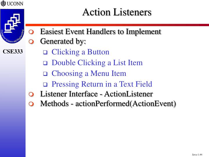 Action Listeners