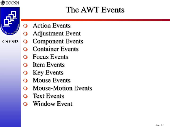 The AWT Events