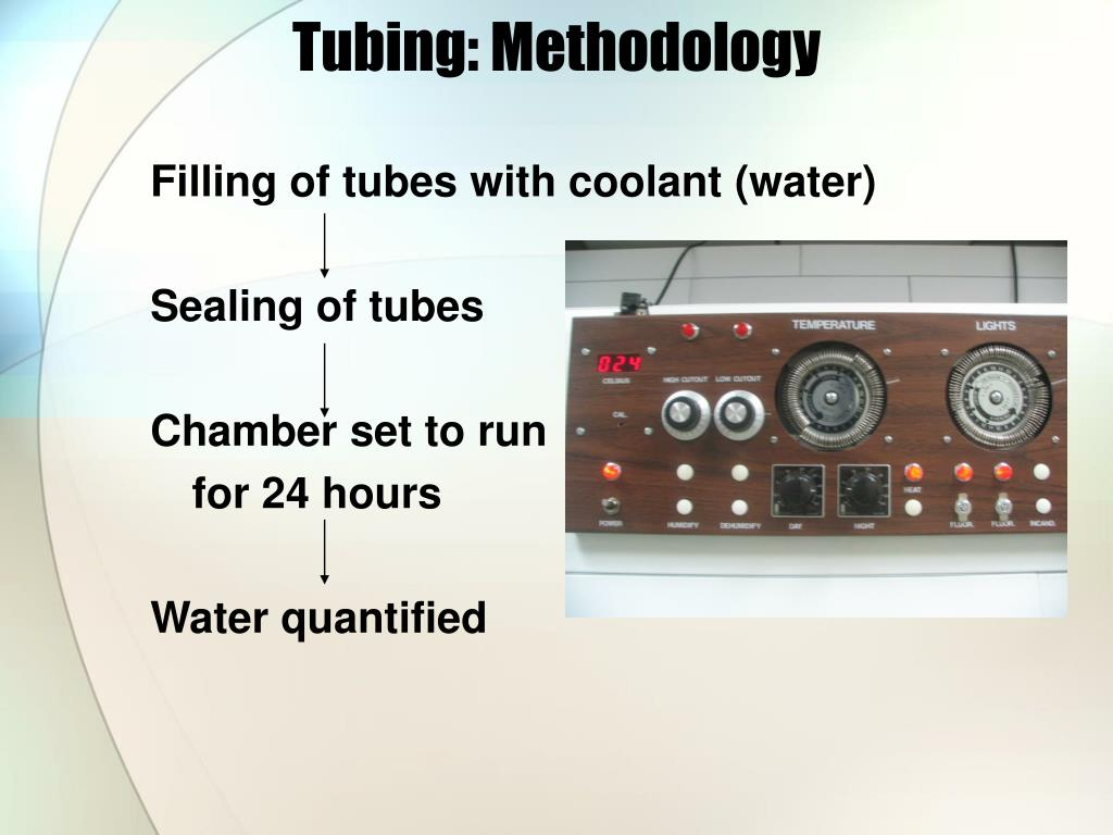 Tubing: Methodology