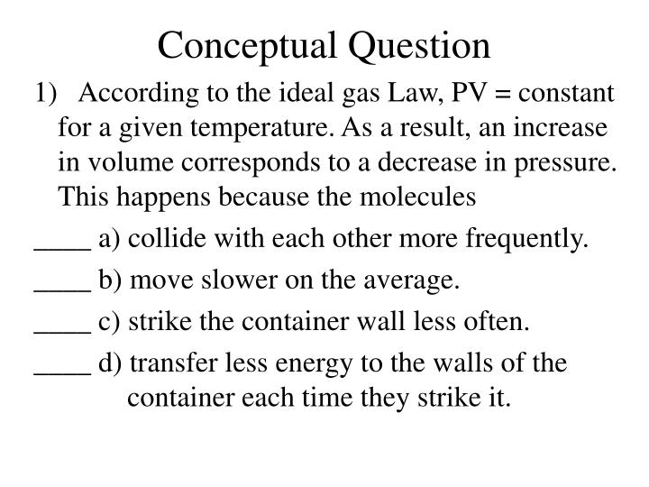 Conceptual Question