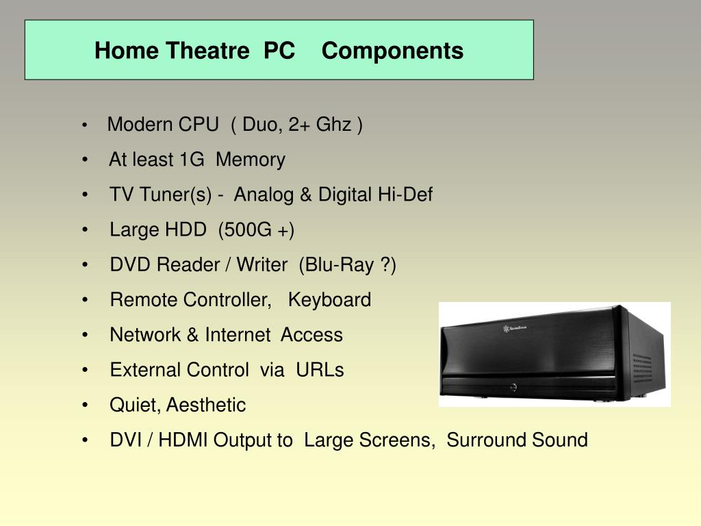 Home Theatre  PC    Components