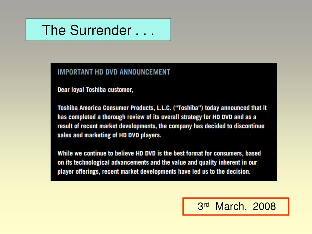 The Surrender . . .