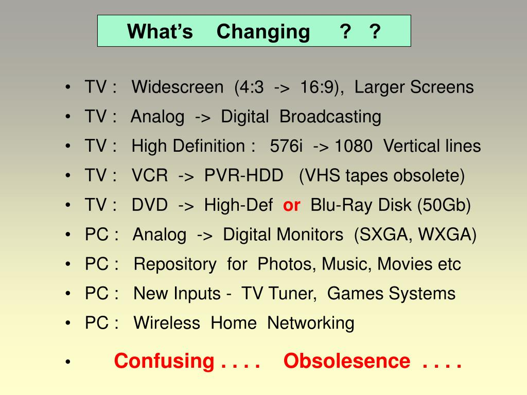 What's    Changing     ?   ?