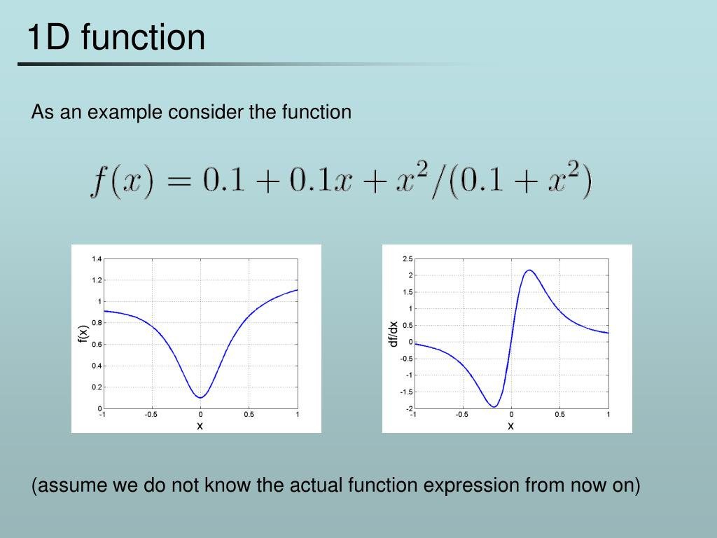 1D function
