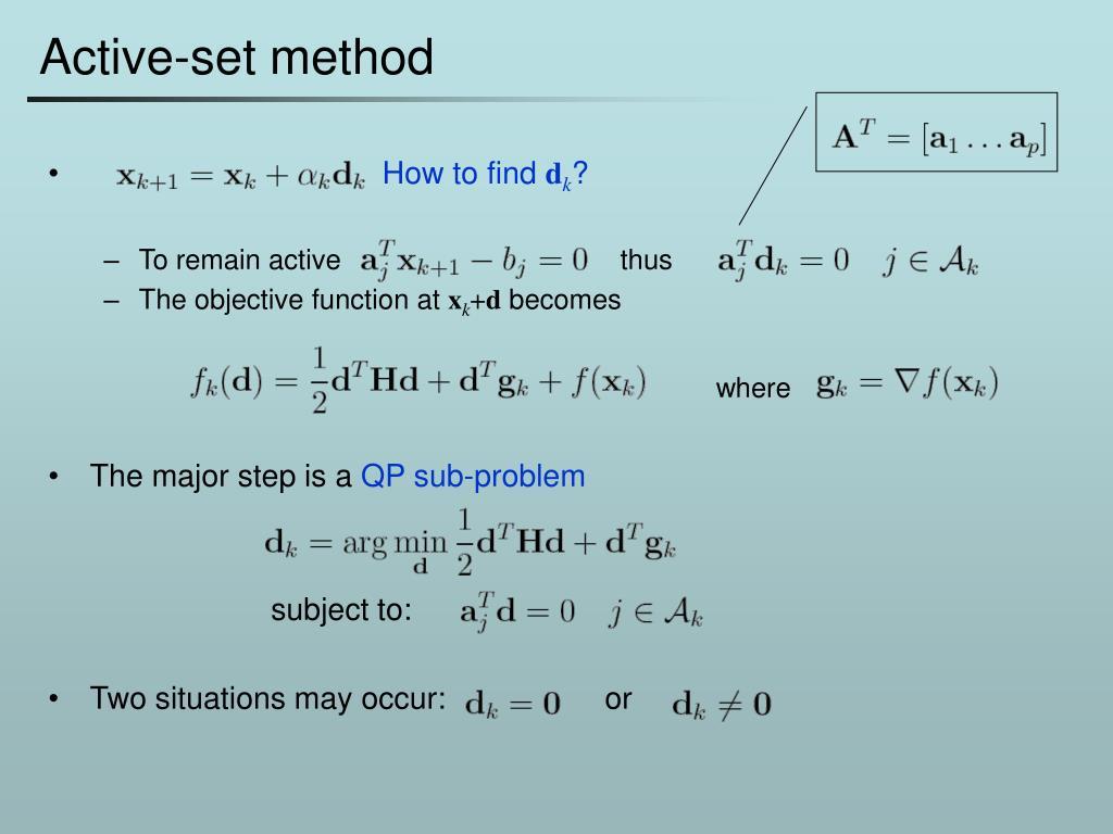Active-set method