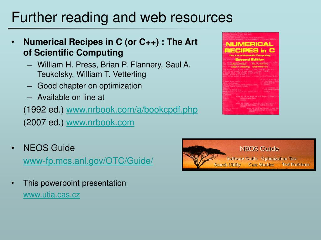 Further reading and web resources