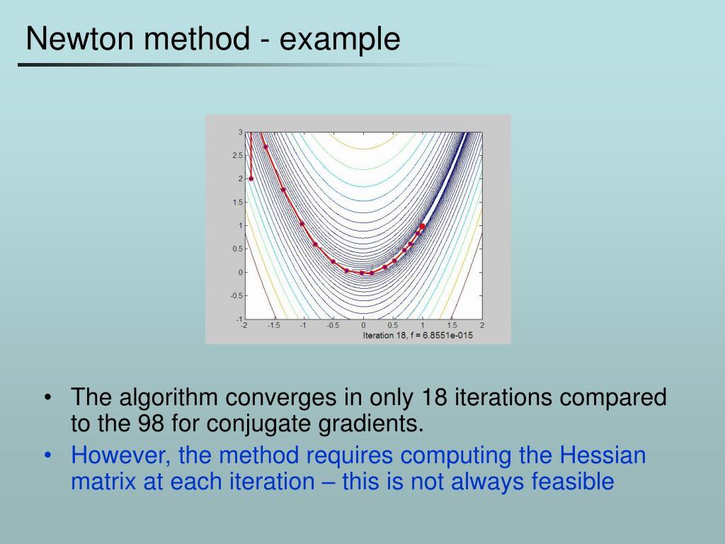 Newton method - example