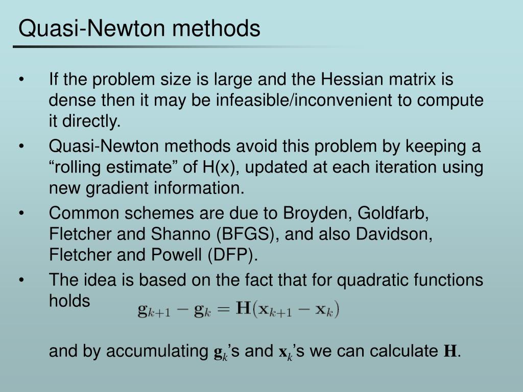 Quasi-Newton methods