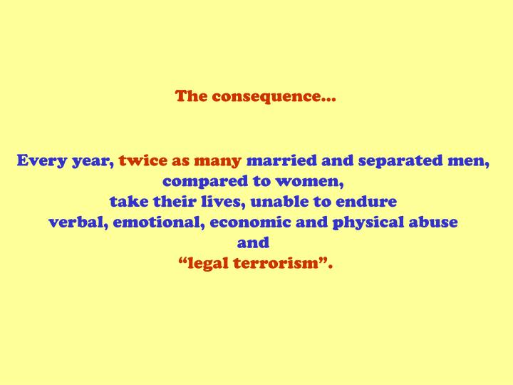 The consequence…